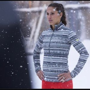 Nike Pro DRI-FIT 1/2 Zip Front long Sleeve Shirt